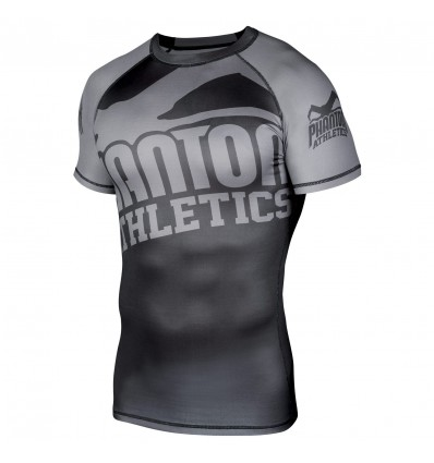 "Rashguard Phantom Athletics ""Supporter 2.0"" Gris / Negro - MC"