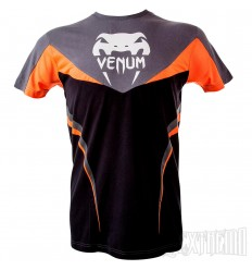 Camiseta Venum Shockwave 3.0 Negro - Naranja