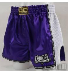 Pantalón Muay Thai Danger Equipment Low Waist - Purpura