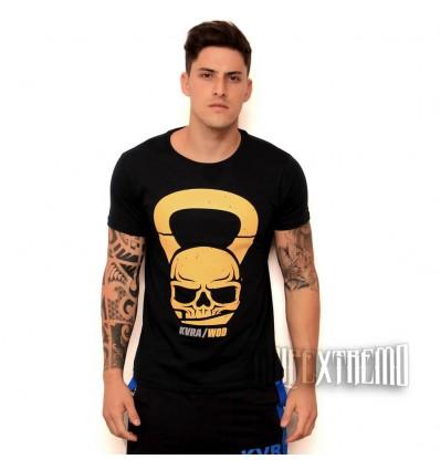 Camiseta Kvra Skull Bell - Marino