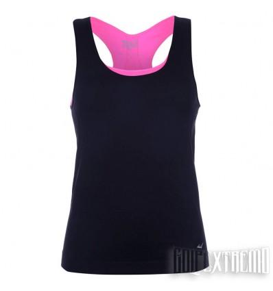Camiseta Tirantes Everlast Doble - Negro