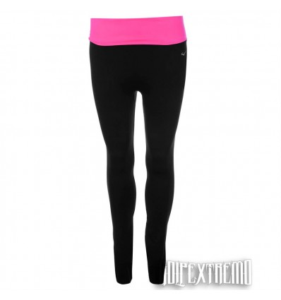 Leggings Everlast Negro - Rosa Flúor