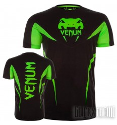 Camiseta Venum Shockwave 3 Negro - Amarillo