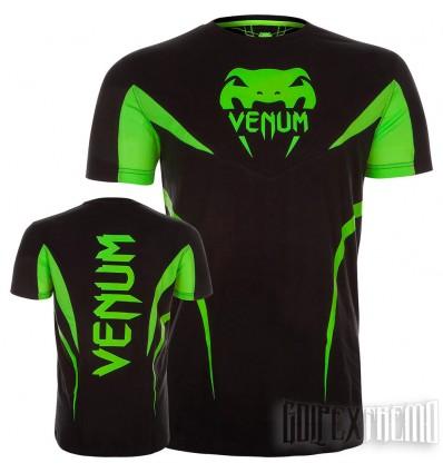 Camiseta Venum Shockwave 3 Negro - Amarillo