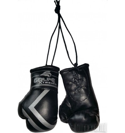 Guantes de Boxeo Retrovisor GolpeXtremo Negro - Plata