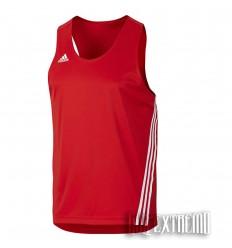 Camiseta de boxeo Adidas Base Punch Rojo-Blanco