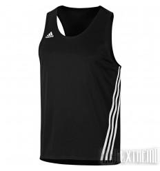 Camiseta de boxeo Adidas Base Punch Negro-Blanco