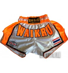 Shorts Muay Thai Wai Kru Retro Fluor - Naranja