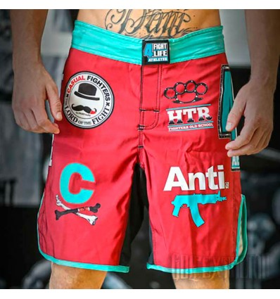 Shorts Fight4Life Liso Burgundy