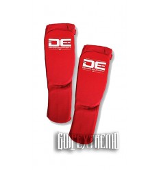 Espinilleras Tubulares Danger Equipment - Rojo