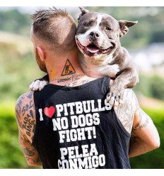 Camiseta Tirantes Chatarras Palace I Love Pitbulls