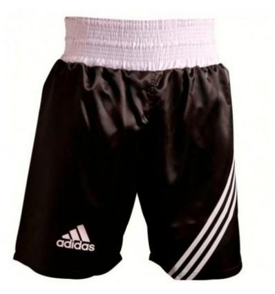 Pantalones de boxeo Adidas  Negro - Blanco
