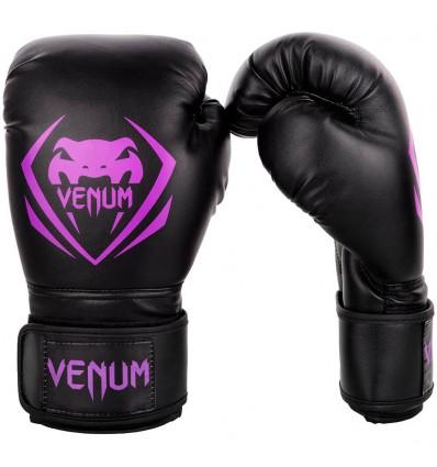 Guantes de Boxeo Venum Contender - Negro / Purpura