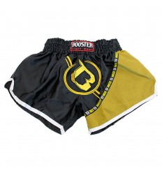 Shorts Muay Thai Booster Negro - Amarillo