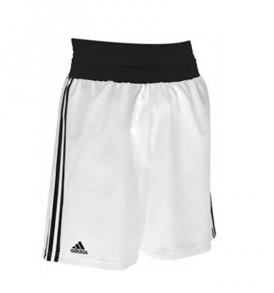 Pantalon de boxeo Adidas Blanco - Negro