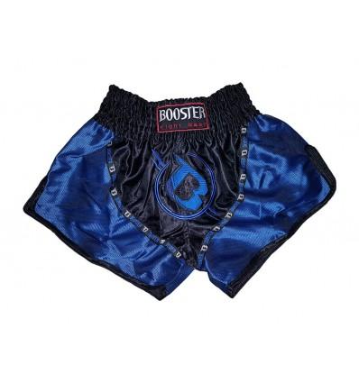 Shorts Muay Thai Booster Negro - Azul