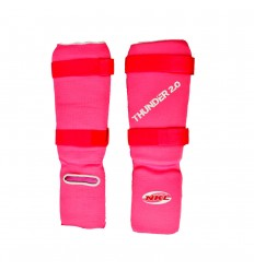 Espinilleras Tubulares con Empeine NKL Thunder- Rosa