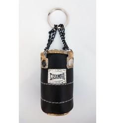 Llavero Saco Boxeo Casanova Negro / Oro