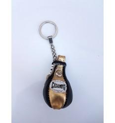 Llavero Pera Boxeo Casanova Negro / Oro