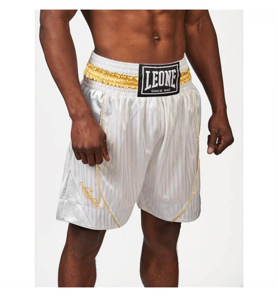 Pantalones De Boxeo Leone 1947 Premium Blanco