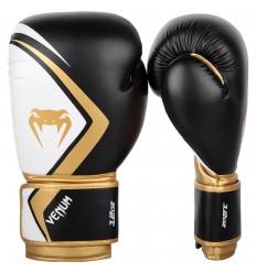 Guantes de boxeo Venum Contender 2.0 Negro/Blanco-Oro