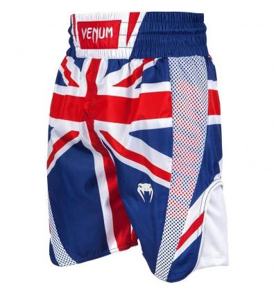 Pantalones de Boxeo Venum Elite UK Azul / Rojo-Blanco