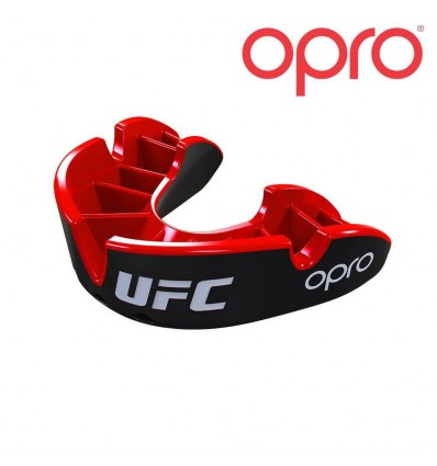 Protector Bucal Opro Silver Rojo / Negro UFC