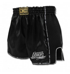 Pantalón Muay Thai Danger Equipment Low Waist - Negro