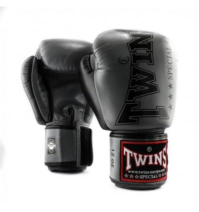 Guantes de Boxeo Twins Gris - Negro