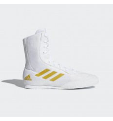 Botas Boxeo Adidas Box Hog 2 Plus Blanco-Oro