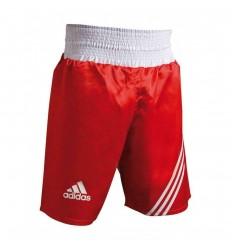 Pantalones de boxeo Adidas  Rojo - Blanco