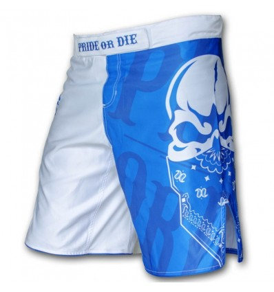 "Pantalones MMA PRiDE or DiE ""Reckless"" Azul / Blanco"