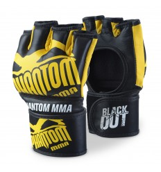 "Guantes de MMA Phantom "" Blackout"" Negro - Amarillo"
