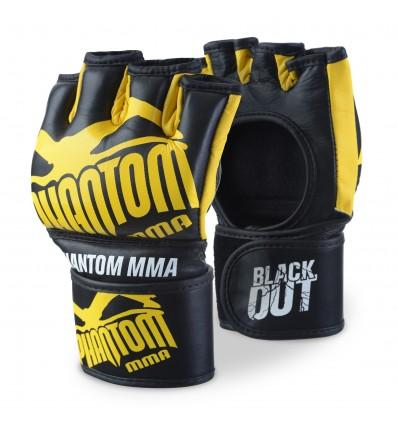"Guantes de MMA Phantom "" Blackout"" Negro - Amarillo"